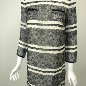 J.Crew Jules Trompe L'oeil Lace Print Dress